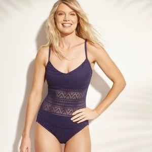 Women's Crochet One Piece Swimsuit - Aqua Green®